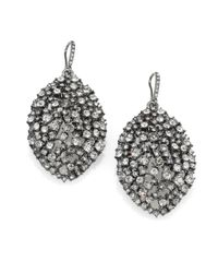 ABS By Allen Schwartz | Metallic Faceted Almond Drop Earrings | Lyst