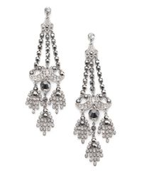 ABS By Allen Schwartz - Metallic Faceted Chandelier Earrings - Lyst