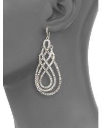 ABS By Allen Schwartz - Metallic Scrolly Drop Earrings - Lyst