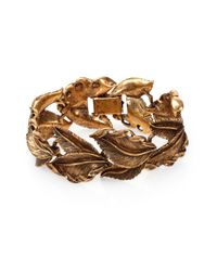 Aerin Erickson Beamon | Metallic Antiqued Leaf Bracelet | Lyst