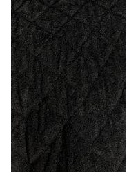 Alexander McQueen Black Quilted Chenille Mini Skirt