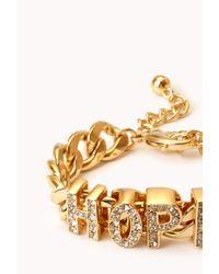Forever 21 - Metallic Optimist Curb Chain Bracelet - Lyst