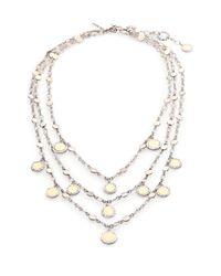 John Hardy | Metallic Dot 18K Yellow Gold & Sterling Silver Triple-Row Bib Necklace | Lyst