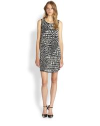 Joie | Black Meka Beaded Silk Dress | Lyst