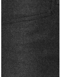 JOSEPH Gray Flannel Stretch Rocker Trouser