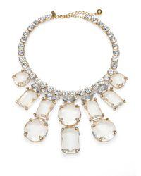 kate spade new york - Metallic Sparkle Statement Necklace - Lyst