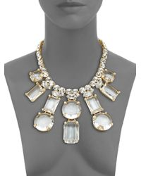 kate spade new york | Metallic Sparkle Statement Necklace | Lyst