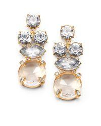 kate spade new york | Metallic Faceted Shimmer Earrings | Lyst