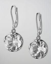 Monica Rich Kosann Metallic Bezel-Set Rock Crystal Drop Earrings