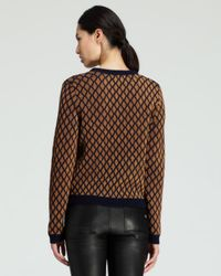 Opening Ceremony - Brown Stardust Metallic Crewneck Sweater - Lyst
