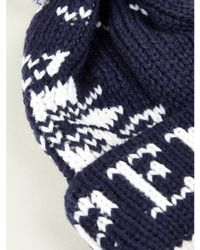 Penfield   Blue Bobble Beanie Hat for Men   Lyst