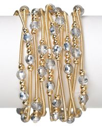 R.j. Graziano Metallic Thin Stretch Bracelets Set Of 10
