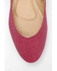 Urban Outfitters Purple Kimchi Blue Sweetheart Ankletie Skimmer