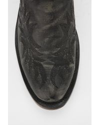 Urban Outfitters Black Ash Kurty Western Ankle Boot