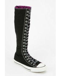 Urban Outfitters Black Converse Chuck Taylor All Star Womens Knee-high Sneaker
