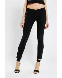 Urban Outfitters | Black Courtshop X Uo Anklebutton Skinny Jean | Lyst
