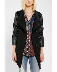 Urban Outfitters | Black D Collection By Troy Smith Drapey Wool Jacket | Lyst