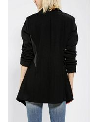 Urban Outfitters - Black D Collection By Troy Smith Drapey Wool Jacket - Lyst