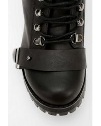 Urban Outfitters Black Deena Ozzy Backcutout Combat Ankle Boot
