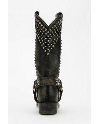 Urban Outfitters Black Frye Billy Stud Biker Boot