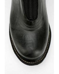 Urban Outfitters Black Ilse Jacobsen Zip-front Rain Boot
