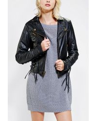 Urban Outfitters - Black Kc By Kill City Laced Vegan Leather Jacket - Lyst