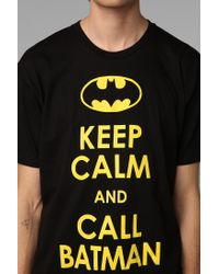 Urban Outfitters | Black Keep Calm and Call Batman Tee for Men | Lyst
