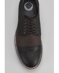 Urban Outfitters Black Mosson Bricke Lugged Derby Shoe for men