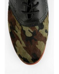 Urban Outfitters Brown Bass Thea Camo Oxford