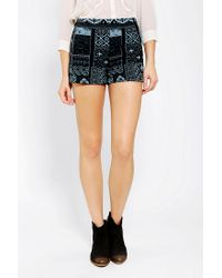 Urban Outfitters - Black Ecote Jacquard Pinup Short - Lyst