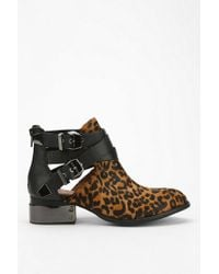 Urban Outfitters Multicolor Jeffrey Campbell Everly Animal Print Cut-out Ankle Boot