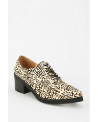 Urban Outfitters Black Jeffrey Campbell Wesley Oxford