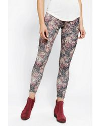 Urban Outfitters | Multicolor Kimchi Blue Tapestry Flowers Legging | Lyst