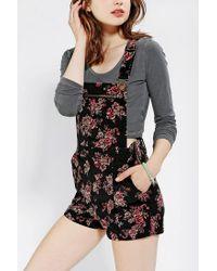 Urban Outfitters - Multicolor Velvet Overall Short - Lyst