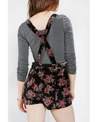 Urban Outfitters | Multicolor Velvet Overall Short | Lyst