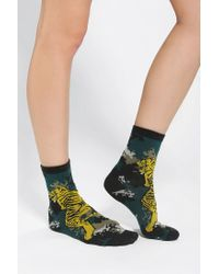 Urban Outfitters | Gray Silence Noise Digi Dragon Sock for Men | Lyst