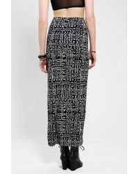 Urban Outfitters - Black Silence Noise Safari Maxi Skirt - Lyst