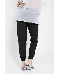 Urban Outfitters - Black Sparkle Fade Vegan Leather Sweatpant - Lyst