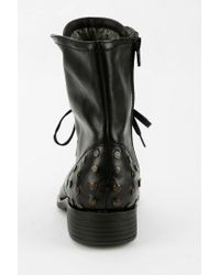 Urban Outfitters Black Otbt Bridgeman Studded Foldover Boot