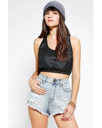 Urban Outfitters | Black Out From Under Vegan Leather Sports Bra Top | Lyst