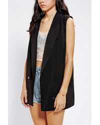 Urban Outfitters | Black Silence Noise Double breasted Sleeveless Blazer | Lyst