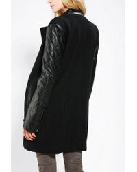 Urban Outfitters - Black Sparkle Fade Teen Queen Wool Moto Coat - Lyst