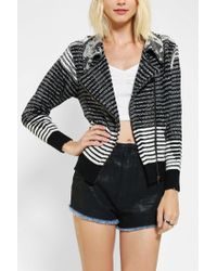Urban Outfitters | Black Urban Renewal Moto Sweater Jacket | Lyst