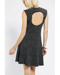 Urban Outfitters | White Silence Noise Textured Open Back Skater Dress | Lyst