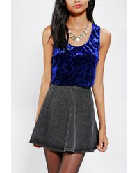 Urban Outfitters | Blue Band Of Gypsies Crushed Velvet Tank Top | Lyst