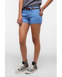 Urban Outfitters   Blue Bdg Alexa Midrise Denim Short   Lyst