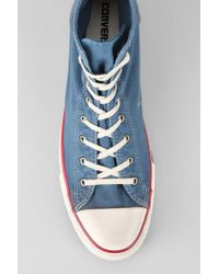 Urban Outfitters Blue Converse Chuck Taylor All Star Washed Mens Hightop Sneaker for men