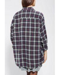 Urban Outfitters   Blue Urban Renewal Acid Wash Flannel Shirt   Lyst