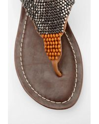 Urban Outfitters | Brown Dv By Dolce Vita Delancey Beaded Thong Sandal | Lyst