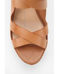 Urban Outfitters Brown Dv By Dolce Vita Jury Strappy Wedge Sandal